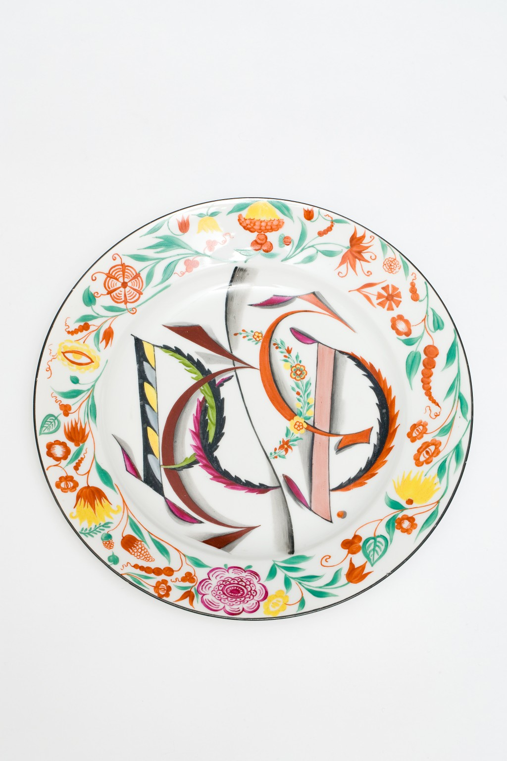COMMEMORATIVE PLATE, SOVIET STATE PORCELAIN FACTORY, C.1921