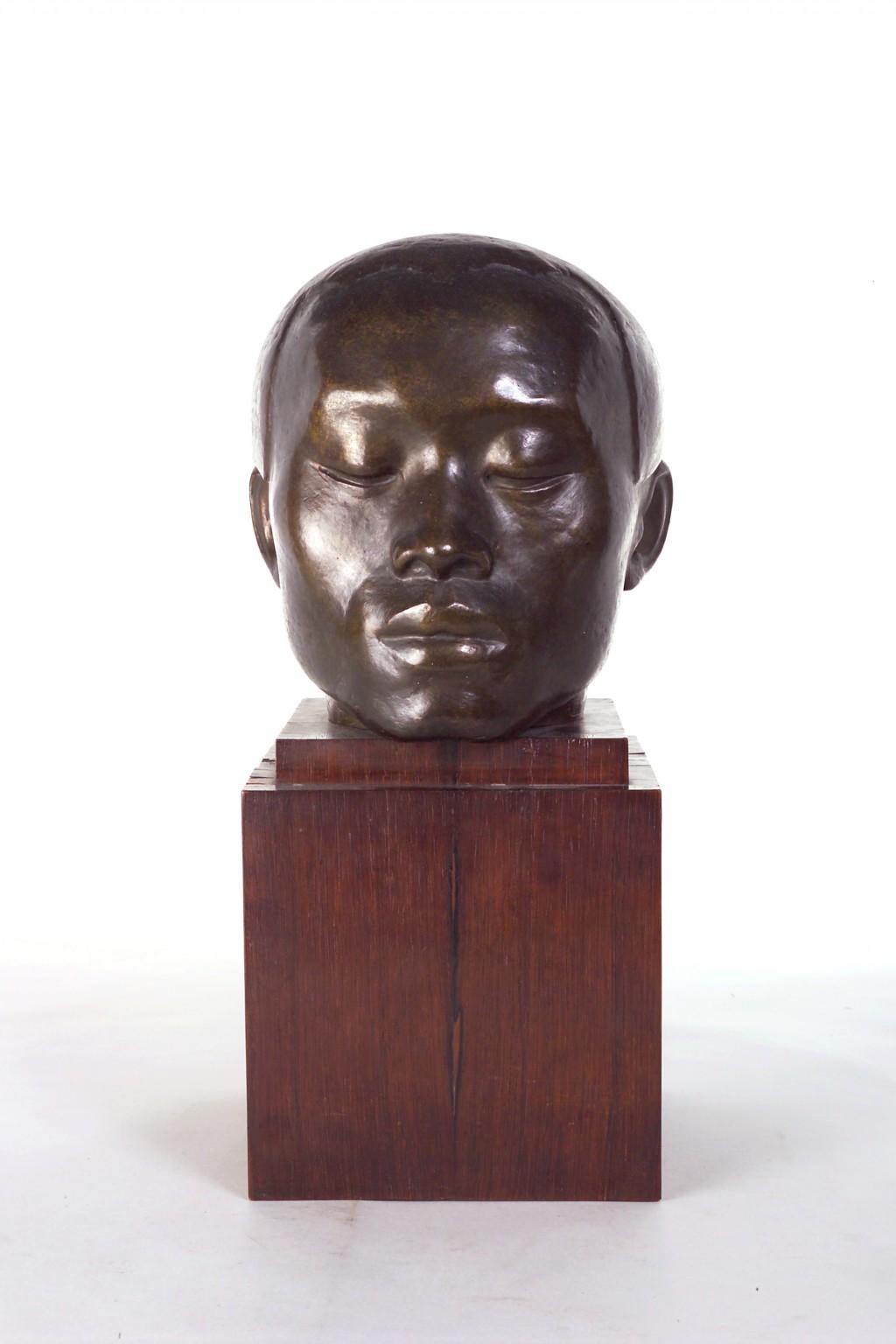 Dora Gordine, Chinese Head/The Chinese Philosopher, bronze, 1925-6
