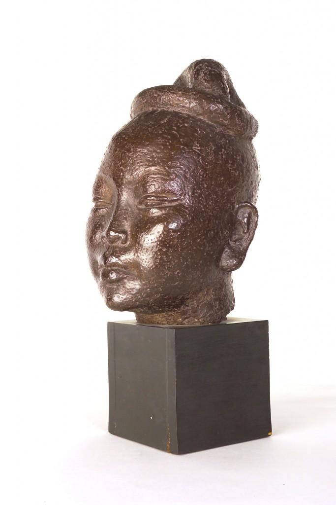 Javanese Head, 1930-1, bronze