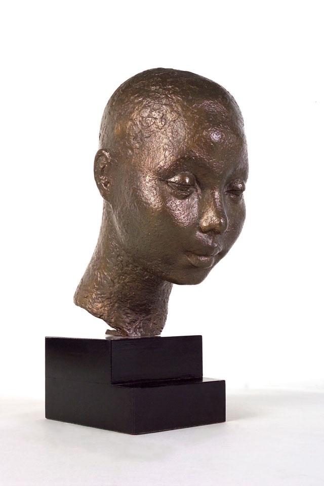 Dora Gordine, African Head/Dahomy Princess, bronze,1928-29