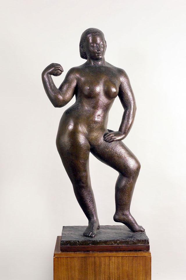 Dora Gordine, Javanese Dancer/Oriental Dancer, bronze,1927-28