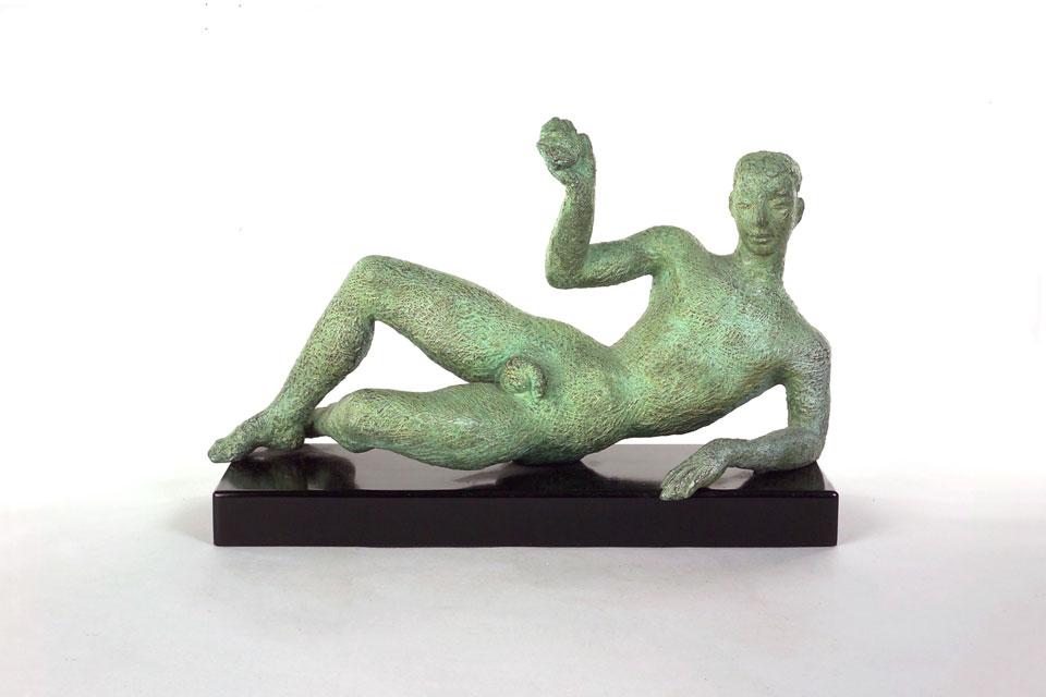 Dora Gordine, L'Après-Midi d'une Faune/Reclining Male Nude, bronze,1955-56