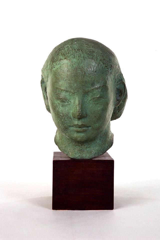 Dora Gordine, Eastern Head/Green Head, bronze, 1927-28