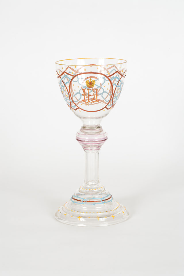 Goblet with the cypher of Nicolas I, mid 19th century