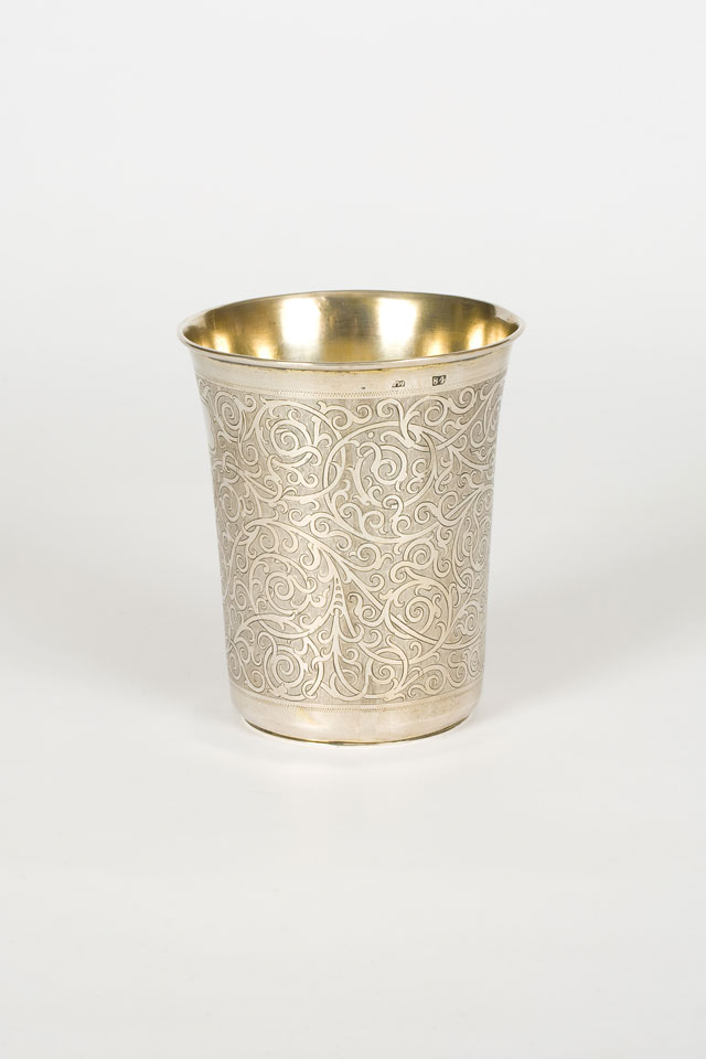 One of a pair of silver gilt beakers, Moscow, 1863