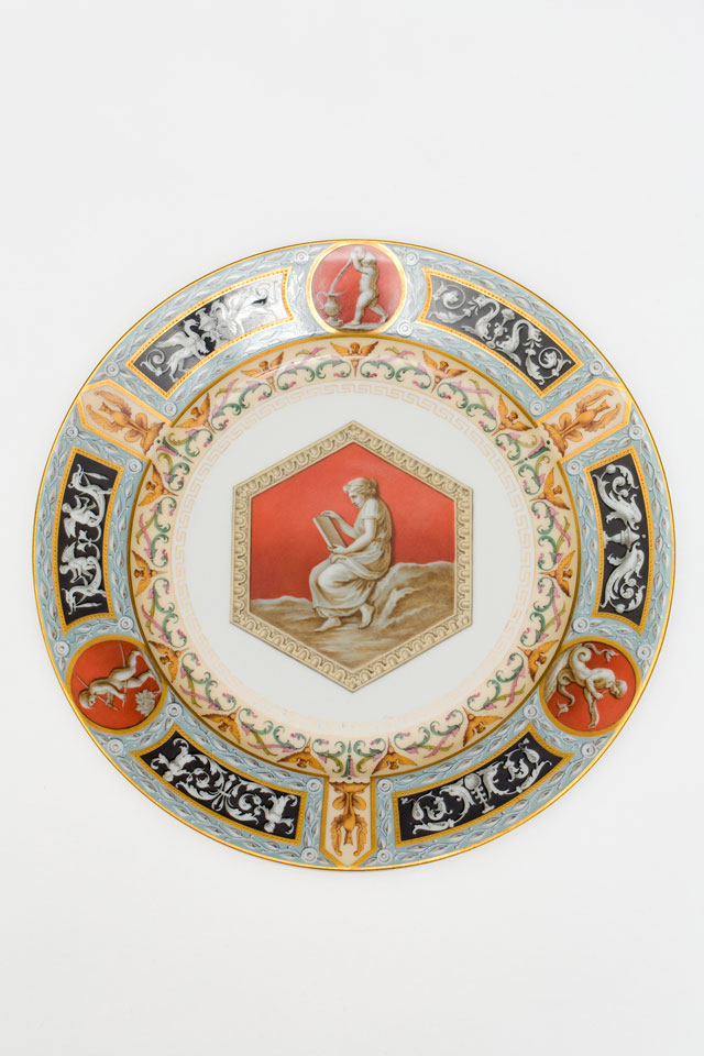 Plate from Raphael Service, decorated with classical motif, Imperial Porcelain Factory, St Petersburg, 1903