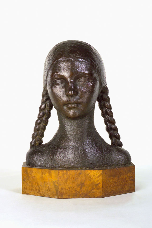 Dora Gordine, Girl with Pigtails, 1927-8, bronze