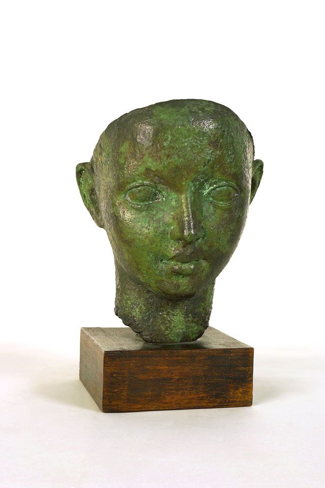 Dora Gordine, Mask of a Greek Boy, 1928-9, bronze