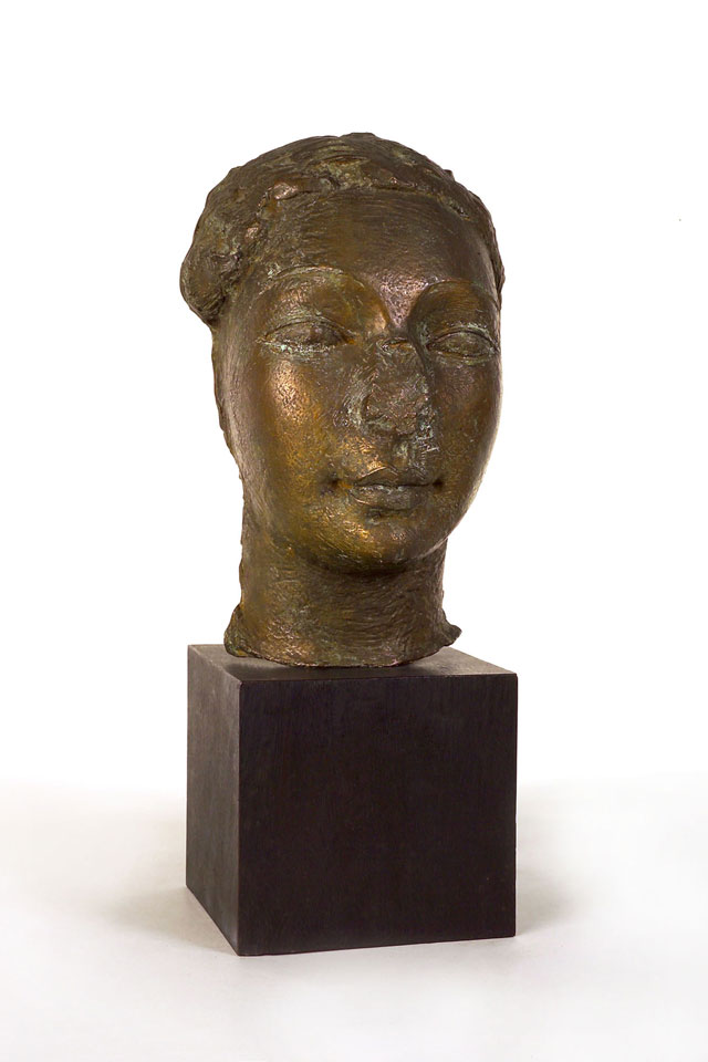 Dora Gordine, Mask with Broken Nose, 1933, bronze