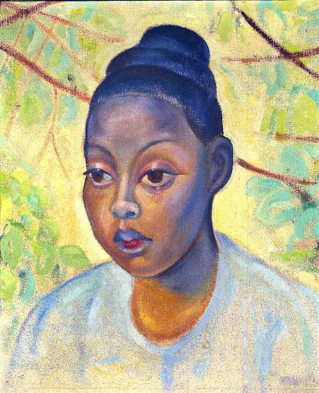 Dora Gordine, Portrait of a Burmese Woman, 1930-5, oil on canvas