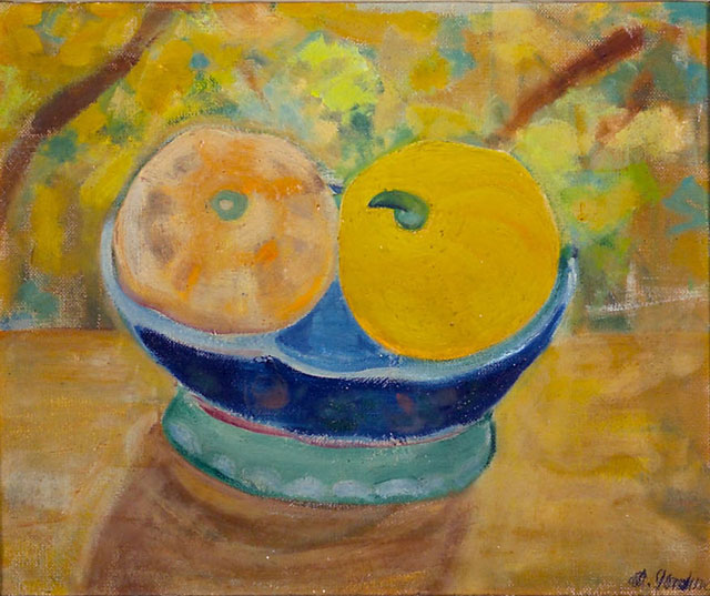 Dora Gordine, Still Life with Gourds, c. 1925, oil on canvas
