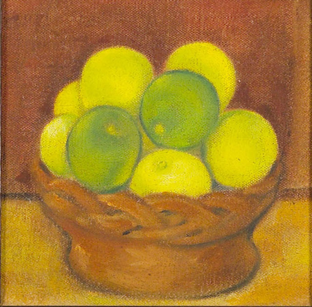 Dora Gordine, Still Life with Apples, oil on canvas