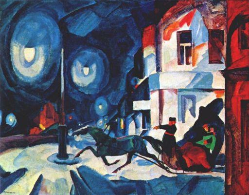 Rudolf Frents, Nevsky prospect at night